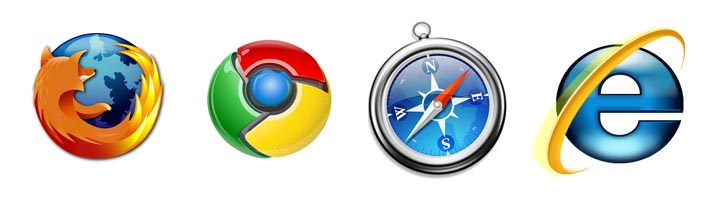 Major internet browsers